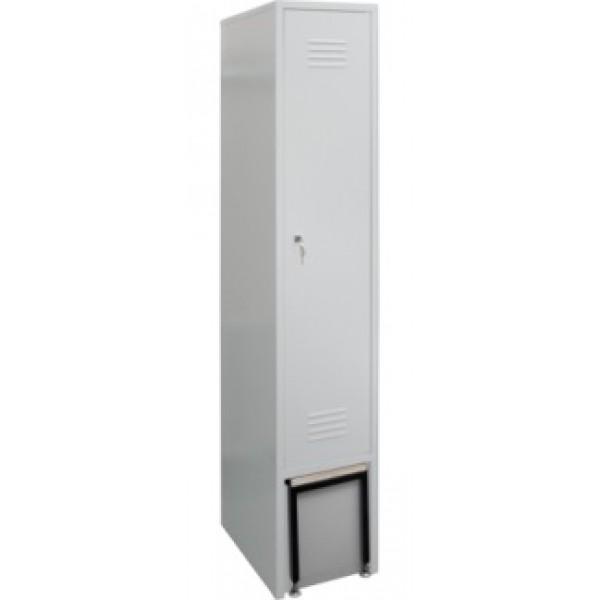 Металлический гардеробный шкаф ШО-1С с выдвижной скамейкой